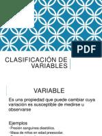 Clasificación de Variables