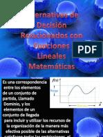 Alternativas de Decisión Relacionados con Funciones Lineales Matemáticas