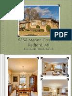 9358 Marion Crescent, Redford, MI   Eisensmith Brick Ranch