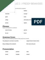 English Intermediate Quiz