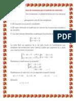 resolucin de sistemas de ecuaciones por el mtodo de reduccin