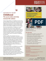 Understanding Children and Childhood Sales Sheet