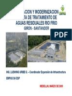 Ampliación y Modernización Planta de Tratamiento de Aguas Residuales Río Frío