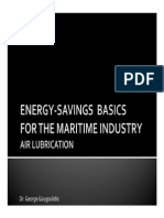 Energy-Savings Basics For The Maritime Industry - Air Lubrication