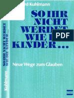 So Ihr Nicht Werdet Wie Die Kinder - Irmgard Kuhlmann