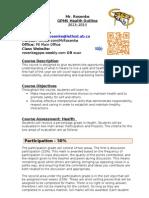 course outline health gp fall 2013