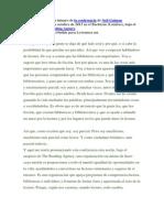 Traducción del texto íntegro de la conferencia de Neil Gaiman pronunciada el 14 de octubre de 2013 en el Barbican