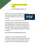 Cúal es la verdadera causa del Reflujo Gastro no mas acidez pdf