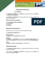 Documento de Soporte No. 15 - Parametros Estadisticos
