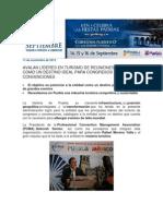 11-11-2013 Blog Rafael Moreno Valle - AVALAN LÍDERES EN TURISMO DE REUNIONES A PUEBLA COMO UN DESTINO IDEAL PARA CONGRESOS Y CONVENCIONES