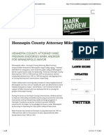 Hennepin County Attorney Mike Freeman | Mark Andrew for Minneapolis Mayor