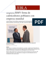 12-11-2013 Milenio.com - Impulsa RMV Firma de Cafeticultores Poblanos Con Empresa Mundial