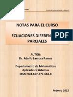 Notas-Ecuaciones Diferenciales Parciales - Libro