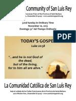 MSLRP Bulletin for 11-10-2013