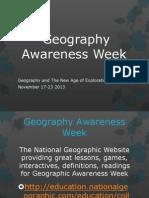 geography awareness week 1