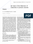 An Experimental Study of the Behaviour of Sleeved Bolt Connections in Precast Concrete Frames