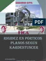 RIGIDEZ EN P+ôRTICOS        PLANOS SEG+ÜN KARDESTUNCER