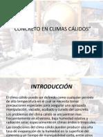 CONCRETO EN CLIMAS CÁLIDOS