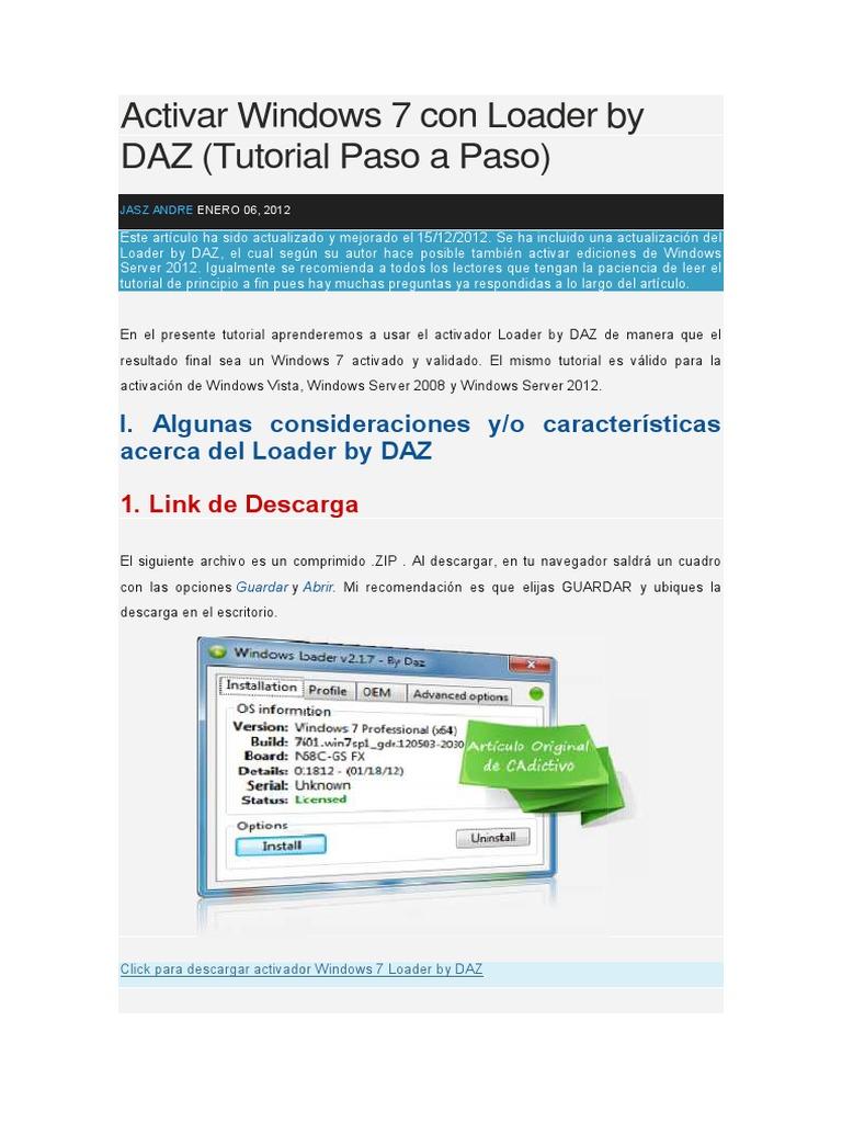 descargar windows loader by daz