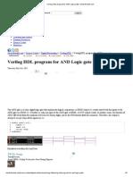 Verilog HDL program for AND Logic gate _ electrofriend