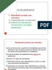 ESTIMACION DE PARAMETROSx