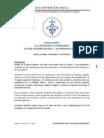 Conclusiones XLI Convención anual 2013 La Fe en la Espiritualidad y en la Experiencia de Dios