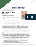 Teacher as Warm Demander