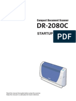 Canon DR-2080C Startup Manual