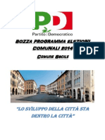 Bozza Programma PD Sacile 2014