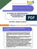 9. EDUCACIÓN INCLUSIVA