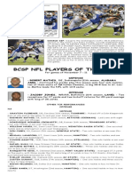 BCSP NFL Players of the Week for Nov 7-11, 2013