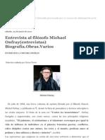 Disonancias-ART-Entrevistas. biografía, reseñas al filósofo Michael Onfray