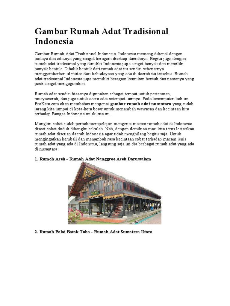 Rumah Adat Tradisional Jawa Barat Dan Penjelasannya
