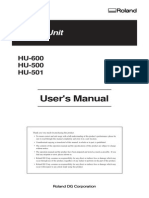 Manual Del Usuario HU-500 501 600 Calentador Unitario Ingles