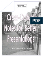 Cross-Cultural Notes for Better Presentations