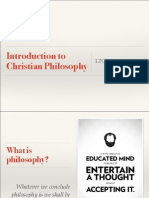 Introduction to Christian Philosophy