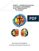 XU-CSG 20th Directorate Mid-Year Report 2013-2014