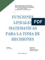 Alternativas de decisión relacionadas con funciones lineales matemáticas