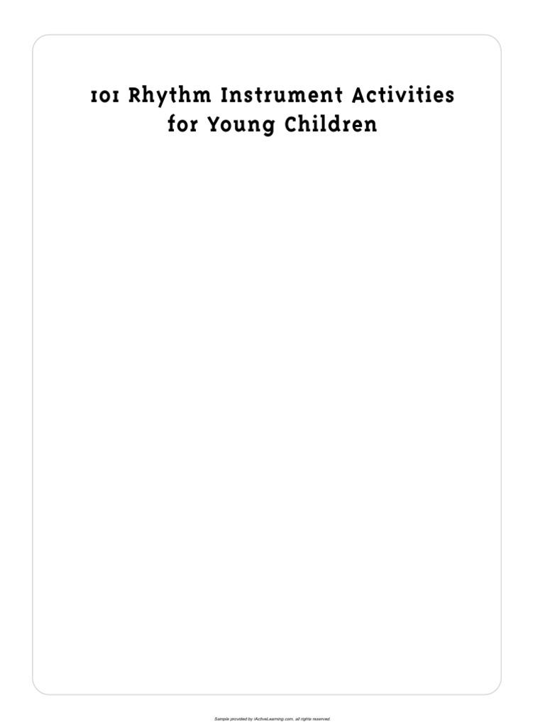 abigail flesch connors-101 rhythm instrument activities for young children-sample  | Singing | Rhythm