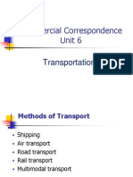 CC Unit 6, Transportation