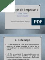 Gerencia de Empresas 1-Liderazgo