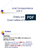 CC Unit 5, Orders and Cover Letters of Orders.ppt