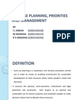 Landuse Planning, Priorities and Management