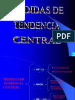 2.5 Medidas Tendencia Central