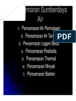 PENCEMARAN SUMBER DAYA AIR