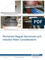 Permanent Magnet Servomotor and  Induction Motor Considerations