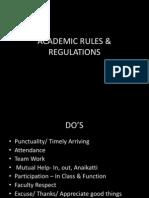 Academic Rules & Regulations