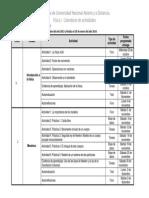 Calendario de Actividades FISICA I 2013-3