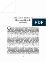 The Dante Studies of Giovanni Gentile