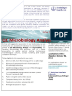 QC Microbiology Analyst